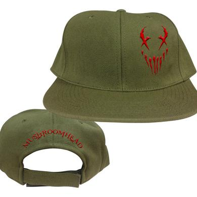 "Mushroomhead ""X-Face"" Snap Back Hat Green/Red"