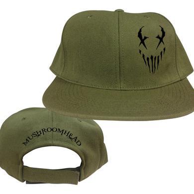"Mushroomhead ""X-Face"" Snap Back Hat Green/Black"