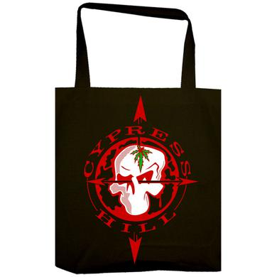 "Cypress Hill ""Skull & Compass"" Black Tote Bag"