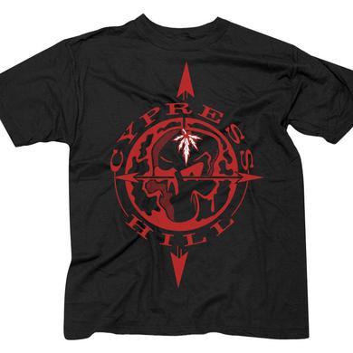"Cypress Hill ""Skull & Compass"" Black T-Shirt"