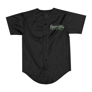 "Cypress Hill ""25th Anniversary Tour"" button up black baseball jersey"