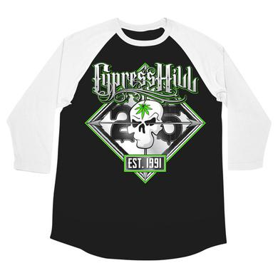 "Cypress Hill ""25th Anniversary Tour"" 3/4 sleeve t-shirt"