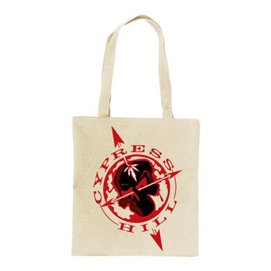 "Cypress Hill ""Skull and Compass"" Hemp Color Tote Bag"