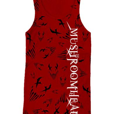 "Mushroomhead ""Allover Print X Face "" Women's Red Tank Top"