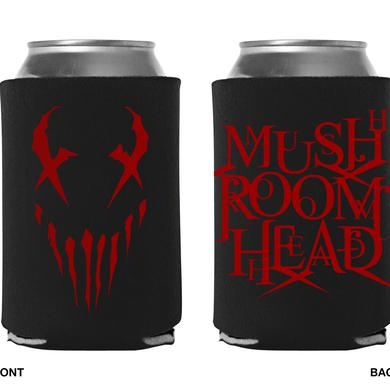 "Mushroomhead ""X-Face / Stacked Logo"" black koozie with 2 sided red print"