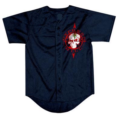 """Cypress Hill """"Skull & Compass"""" button up baseball jersey"""