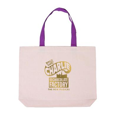 Charlie and the Chocolate Factory Gold Foil Logo Tote