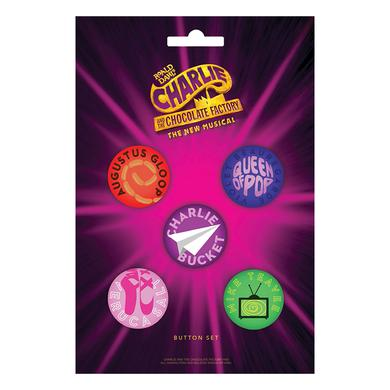 Charlie and the Chocolate Factory Button Set