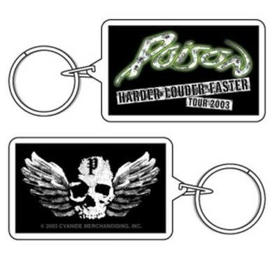Poison Winged Skull Keychain