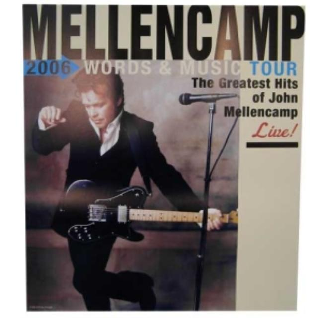 John Mellencamp Words & Music Tour Poster