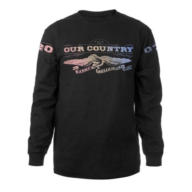 John Mellencamp Rainbow Eagle Long-Sleeve T-Shirt