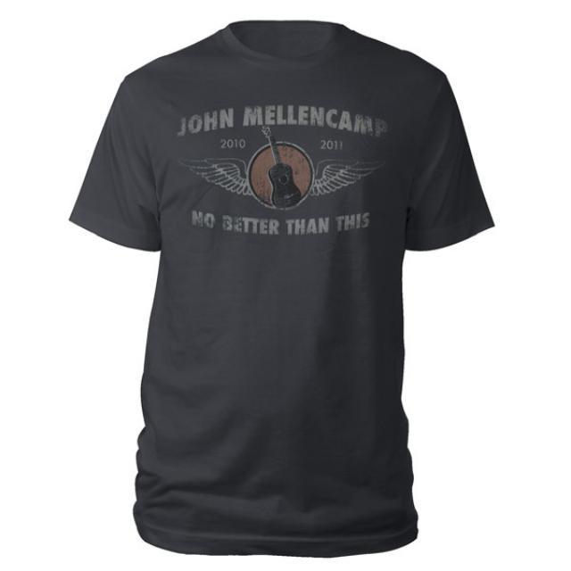 John Mellencamp Guitar Wings No Better Than This 2010-2011 Tour Tee
