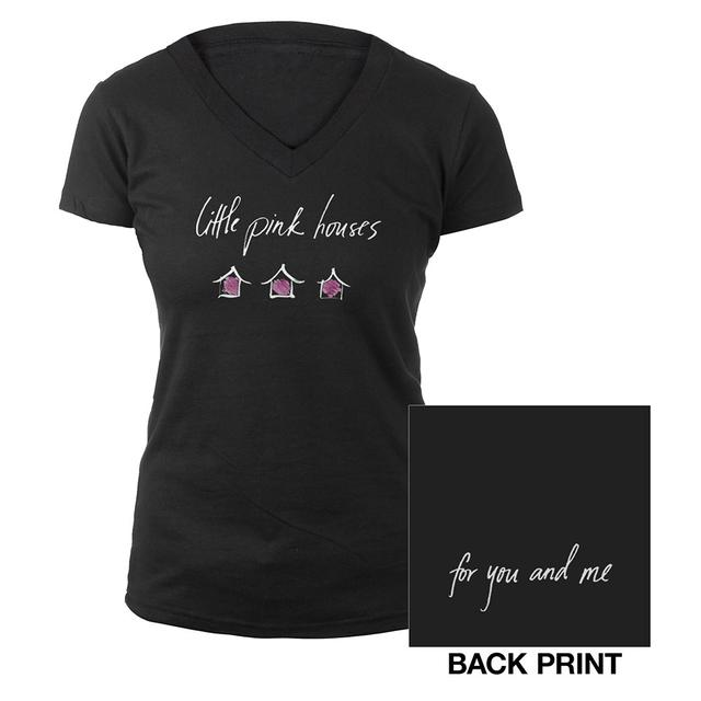 John Mellencamp Black Pink Houses Ladies Tee