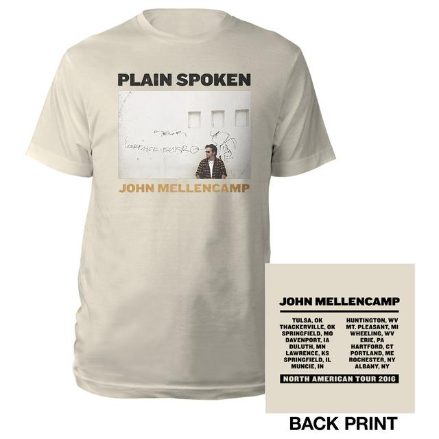 John Mellencamp Plain Spoke 2016 Album Tee