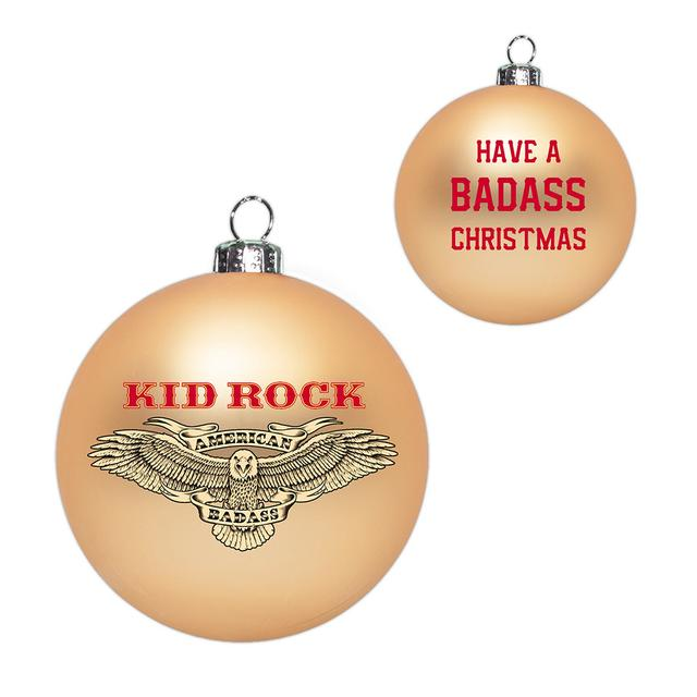 Kid Rock Badass Christmas Ornament