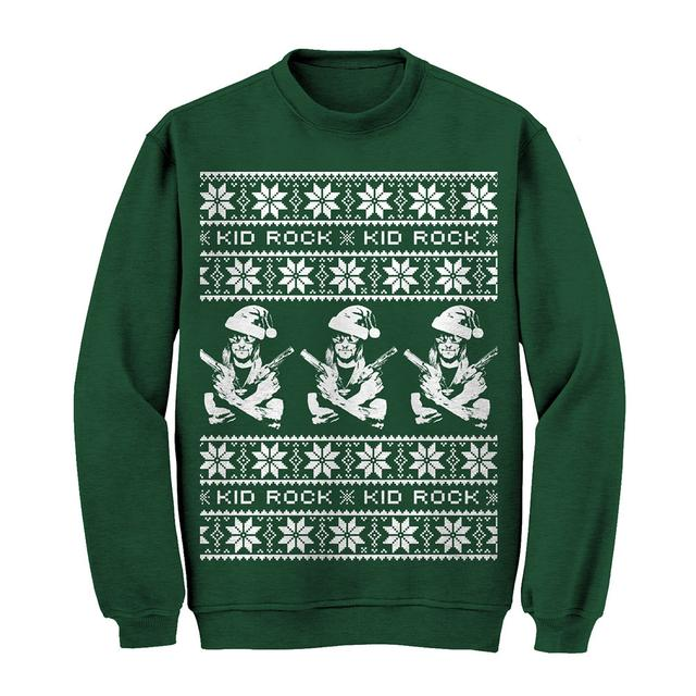 Kid Rock Guns Holiday Sweatshirt Green