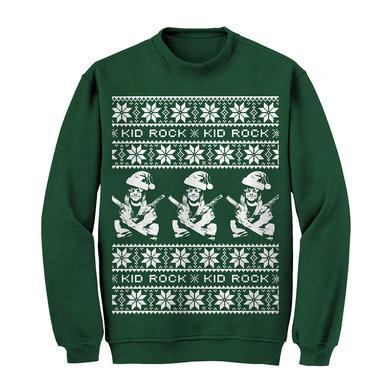 Kid Rock Guns Holiday Sweatshirt Green