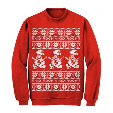 Kid Rock Guns Holiday Sweatshirt Red