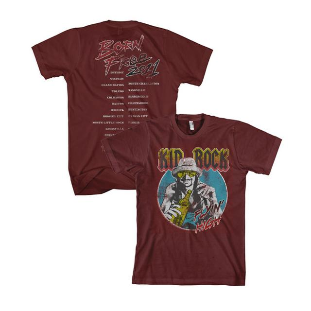Kid Rock Red Flyin' High Tour Tee