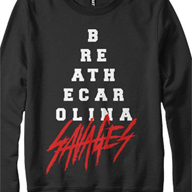 Breathe Carolina Pyramid Crewneck Sweatshirt (Black)
