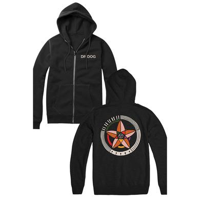 Dr. Dog Big Hex Zip Hoodie (Black)