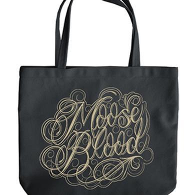 Moose Blood Script Tote Bag (Black)