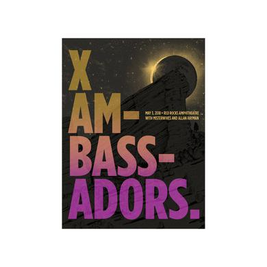 X Ambassadors Autographed Red Rocks Art Print