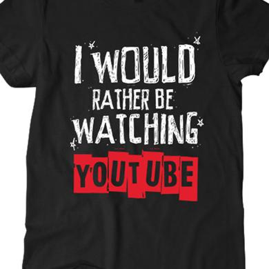 BryanStars Rather Be Watching Youtube Tee (Black)