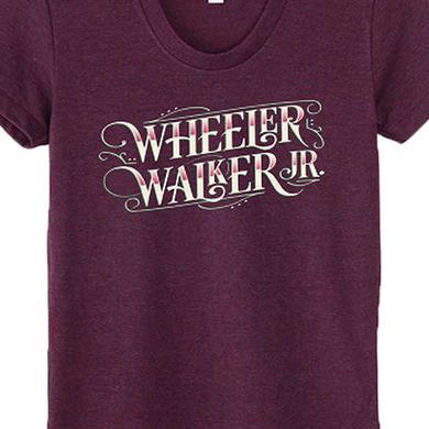 Wheeler Walker Jr Logo Ladies Tee (Cranberry)