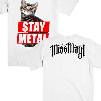 Miss May I Stay Metal Cat Tee (White)