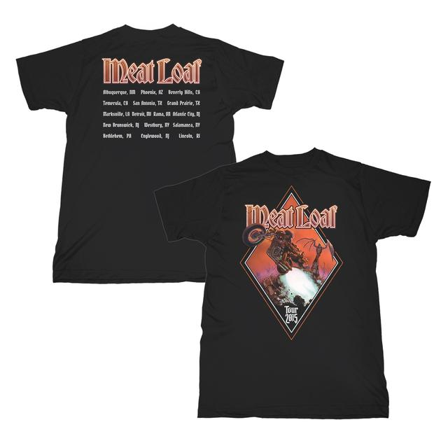 Meat Loaf Diamond Itinerary Tee