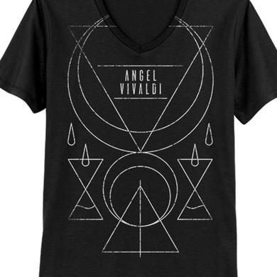 Angel Vivaldi Crescent Vneck Tee (Black)
