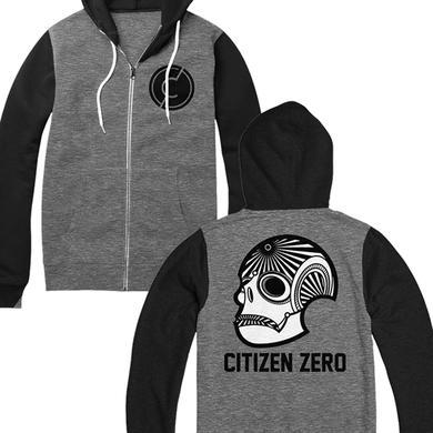 Citizen Zero Skull Zip Hoodie