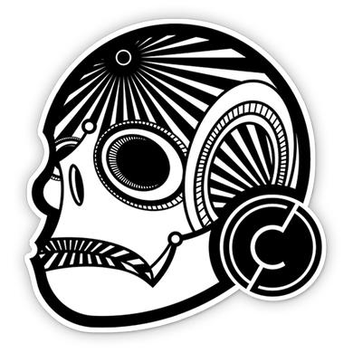 Citizen Zero Skull Die Cut Sticker 3in