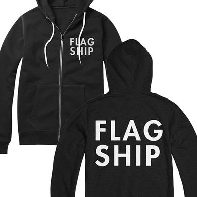 Flagship Logo Zip Up Hoodie (Black)