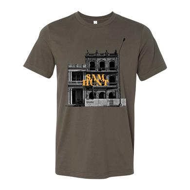 Sam Hunt Downtown 2018 Tour Army Green T-shirt