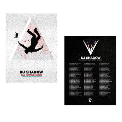 Dj Shadow Live in Manchester: The Mountain Has Fallen Tour Poster