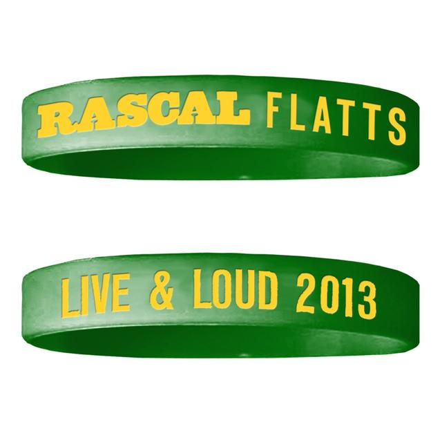 Rascal Flatts Live & Loud Green Wristband