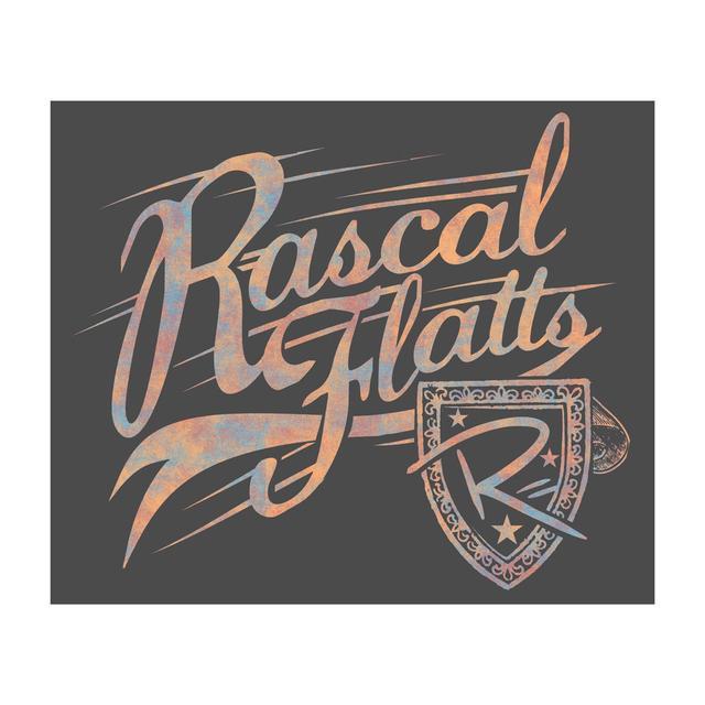 Rascal Flatts Plush Logo Blanket