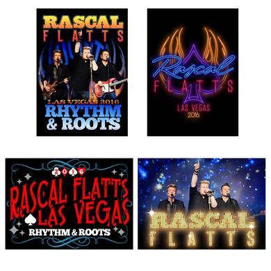 Rascal Flatts Rhythm and Roots Postcard Set