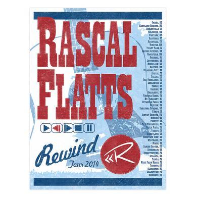 Rascal Flatts Rewind Tour 2014 Poster