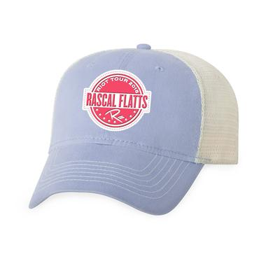 Rascal Flatts Riot Tour Pale Blue Trucker Hat