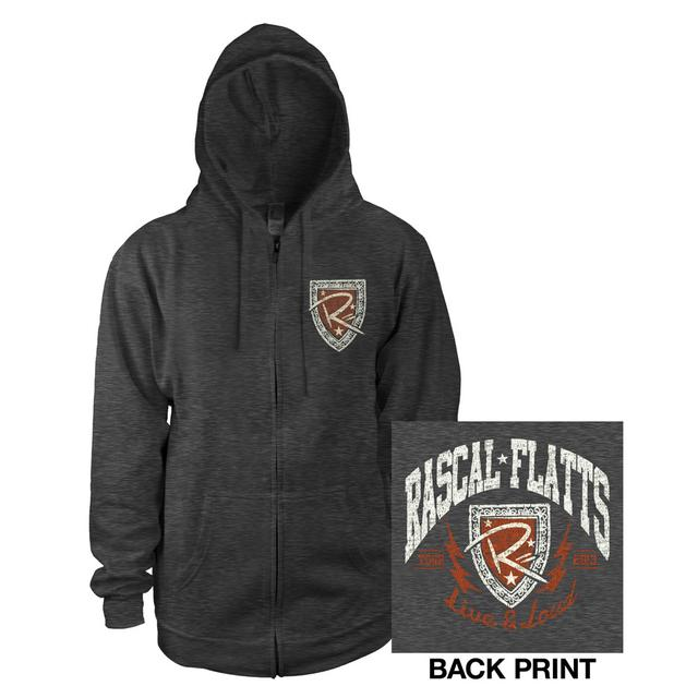 Rascal Flatts Live & Loud Charcoal Zip Hoody