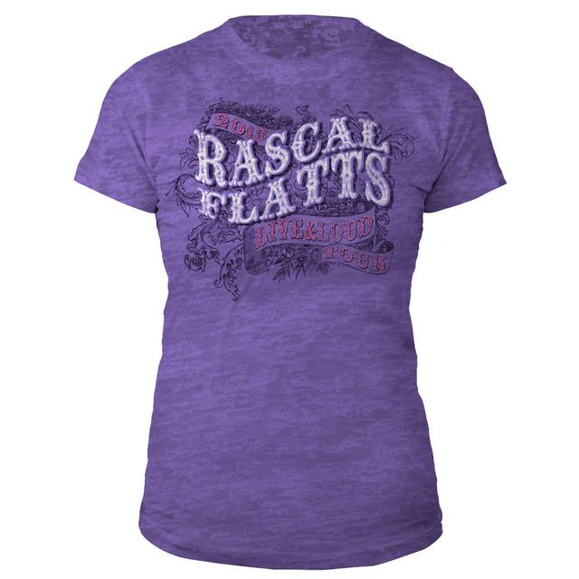 Rascal Flatts Live & Loud Purple Jrs. Tee