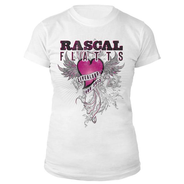 Rascal Flatts Live & Loud Heart Jrs. Tee