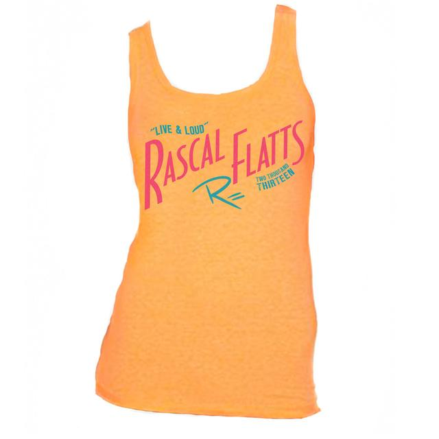 Rascal Flatts Live & Loud Orange Ladies Tank