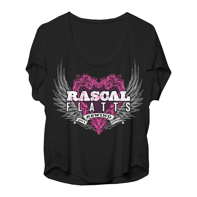 Rascal Flatts Rewind Flow Ladies Tee