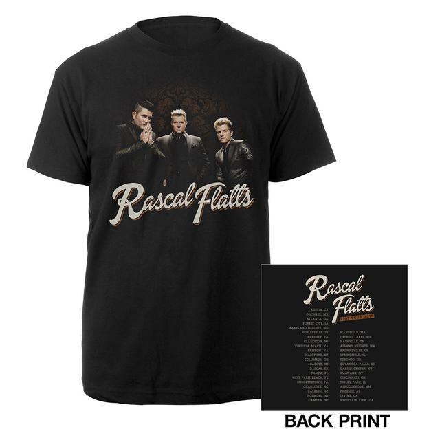 Rascal Flatts Black Suit Itinerary Tee