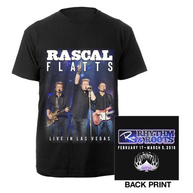 Rascal Flatts Las Vegas Rhythm and Roots Tee