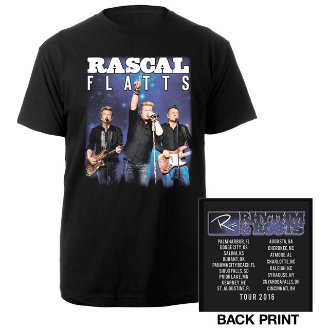Rascal Flatts Rhythm and Roots Itinerary Tee
